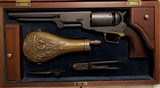Walker Marked Colt B Co. No. 50, Coffin-Style Walnut Case with Accessories - 3 of 20