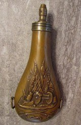 Colts Patent Walker or 1st Model Dragoon Powder Flask, Military, WAT Inspected