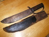 Civil War D Guard & Sheath 16 inches Overall 11 Inch Heavy Blade 1/4 inch Thick