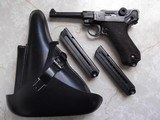 1937 Mauser P.08 S/42 9mm Lugarwith holster, 3 clips