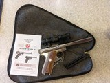 USED RUGER MODEL MARK II 22LONG RIFLE WITH ORIGINAL MANUAL AND SOFT CASE