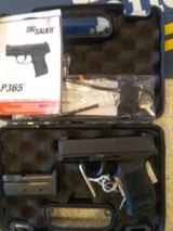 NEW SIG SAUER MODEL 365 9MM WITH HARD PLASTIC CASE, LOCK,EXTRA MAG,MANUALS - 1 of 10
