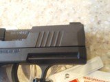 NEW SIG SAUER MODEL 365 9MM WITH HARD PLASTIC CASE, LOCK,EXTRA MAG,MANUALS - 9 of 10