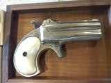 Used Remington Derringer #765 in original wood box and includes 200 rounds of 41 Short Rim Fire Ammo. Very Nice Piece! - 7 of 16