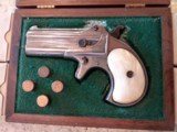 Used Remington Derringer #765 in original wood box and includes 200 rounds of 41 Short Rim Fire Ammo. Very Nice Piece! - 2 of 16