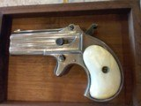 Used Remington Derringer #765 in original wood box and includes 200 rounds of 41 Short Rim Fire Ammo. Very Nice Piece! - 6 of 16