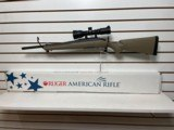 """Used Ruger American Ranch 300 blackout 5 round magazine 17"""" barrel factory scope with lens covers with original box"""