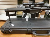 Used Barrett 82A1 50BMG 29 inch fluted barrel, 4 magazines, soft case, hardcase, scope and between 400-450 rounds of ammunition very good condition - 19 of 20