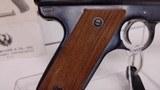 "Used Ruger MK I 22 LR5 1/2"" barrel 2 magazines original manual and extra mag box good condition no box - 15 of 19"