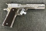 Colt 1911 Custom Engraved by Ivan Mate in 38 Super caliber