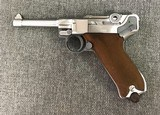 Luger P08 Manufactured by Mitchell Arms of Houston, Texas in STAINLESS STEEL 9mm - 2 of 6
