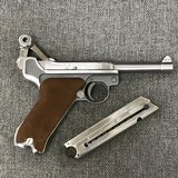 Luger P08 Manufactured by Mitchell Arms of Houston, Texas in STAINLESS STEEL 9mm - 5 of 6