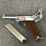 Luger P08 Manufactured by Mitchell Arms of Houston, Texas in STAINLESS STEEL 9mm - 6 of 6