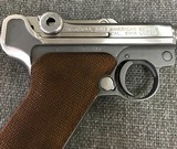 Luger P08 Manufactured by Mitchell Arms of Houston, Texas in STAINLESS STEEL 9mm - 3 of 6