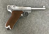 Luger P08 Manufactured by Mitchell Arms of Houston, Texas in STAINLESS STEEL 9mm