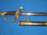 AN EARLY U.S. CIVIL WAR MODEL 1850 STAFF & FIELD OFFICERS SWORD IN MINTY CONDITION!