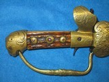 AN EARLY 1800'S GERMAN MADE PERCUSSION LION HEAD POMMEL SWORD PISTOL IN VERY NICE UNTOUCHED CONDITION! - 4 of 13