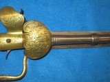 AN EARLY 1800'S GERMAN MADE PERCUSSION LION HEAD POMMEL SWORD PISTOL IN VERY NICE UNTOUCHED CONDITION! - 5 of 13