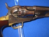 AN EARLY CIVIL WAR COLT MODEL 1862 PERCUSSION POLICE REVOLVER IN EXCELLENT UNTOUCHED CONDITION! - 7 of 14