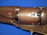 A CIVIL WAR COLT MODEL 1861 PERCUSSION ROUND BARREL NAVY REVOLVER IN VERY NICE AND ALL ORIGINAL UNTOUCHED CONDITION! - 16 of 16