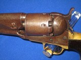A CIVIL WAR COLT MODEL 1861 PERCUSSION ROUND BARREL NAVY REVOLVER IN VERY NICE AND ALL ORIGINAL UNTOUCHED CONDITION! - 3 of 16