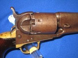 A CIVIL WAR COLT MODEL 1861 PERCUSSION ROUND BARREL NAVY REVOLVER IN VERY NICE AND ALL ORIGINAL UNTOUCHED CONDITION! - 7 of 16
