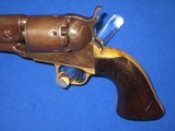 A CIVIL WAR COLT MODEL 1861 PERCUSSION ROUND BARREL NAVY REVOLVER IN VERY NICE AND ALL ORIGINAL UNTOUCHED CONDITION! - 2 of 16
