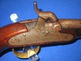 AN EARLY AND SCARCE U.S. ISSUED MEXICAN WAR & CIVIL WAR N.P. AMES MODEL 1842 PERCUSSION SINGLE SHOT NAVY PISTOL DATED 1844 IN VERY NICE CONDITION! - 3 of 17