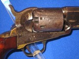 """AN EARLY U.S. CIVIL WAR MANHATTAN TYPE I PERCUSSION NAVY REVOLVER MADE IN 1862 IDENTIFIED TO """"BENJAMIN F. DOUGLAS OF THE U.S. ARMY 16TH INFANTRY& - 7 of 14"""