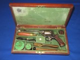 An Early Civil War Tranter's Patent Second Model Percussion Revolver In Its Original Case With Accessories All In Excellent Untouched Condition!