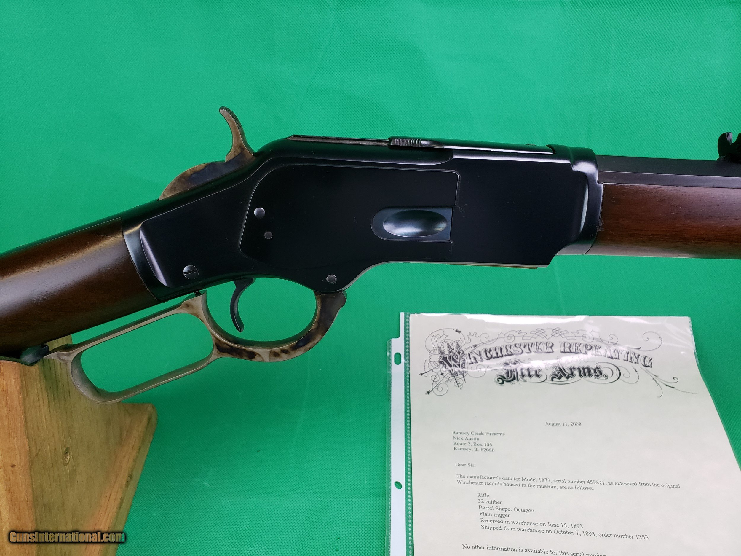 winchester model 1873 serial number location