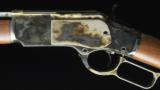 Winchester 1873 Sporting Rifle GD III 38/357 Case Hardened - 1 of 6