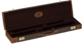 Browning Lona Canvas/Leather Fitted Case, Flint/Brown
