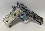 Llama 111A .380 Nickel Engraved Pearl Grips - 1 of 6