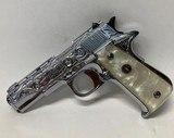 Llama 111A .380 Nickel Engraved Pearl Grips - 2 of 6