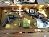 Lefaucheux Pinfire; C.S.A. Revolvers 1853 12mm and 7mm Pocket In Display CaseCIVILWAR