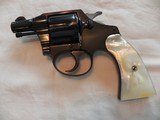 Colt Bankers Special 38 s&w Factory Pearl Grips in 100 % Mint Condition in Original BoxPRE WAR COLT
