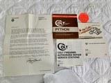 "1984 Colt Python .357 Magnum, 4"" barrel, Factory Bright Stainless Finish, Colt Letter, ANIB - 12 of 14"