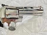 "1984 Colt Python .357 Magnum, 4"" barrel, Factory Bright Stainless Finish, Colt Letter, ANIB - 3 of 14"