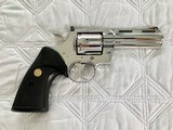 "1984 Colt Python .357 Magnum, 4"" barrel, Factory Bright Stainless Finish, Colt Letter, ANIB - 2 of 14"