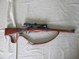 1986 MANNLICHER STOCKED RUGER M77 RSI 243win CALIBER BOLT ACTION REPEATER WITH SLING & SCOPE