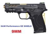 THIS IS A NEW S&W PC M&P9 SHIELD EZ PORTED GOLD SEMI AUTO PISTOL SKU 13227 - 1 of 1