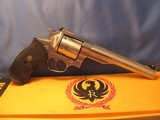 """""""1982"""" RUGER REDHAWK 44 MAGNUM DOUBLE ACTION STAINLESS STEEL WITH BOX AND ERA CORRECT PACHMYER GRIPS"""