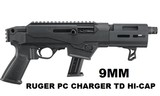 NEW RUGER PC CHARGER TAKE DOWN 9MM SEMI AUTO 17 RD HI CAP PISTOL 29100