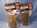LOT OF (2) HK HECKLER & KOCH 22LR 10 RD MAGAZINES FOR HK 416 RIMFIRE ONLY