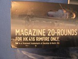 LOT OF (3) HK HECKLER & KOCH 22LR 20 RD MAGAZINES FOR HK 416 RIMFIRE ONLY - 2 of 3