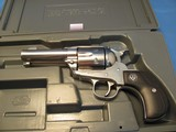 """RUGER VAQUERO BRIGHT STAINLESS 45 LONG COLT SINGLE ACTION 6-SHOT 3.75"""" REVOLVER"""