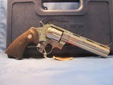 SPECIAL EDITION ENGRAVED COLT PYTHON STAINLESS STEEL 357 MAGNUM REVOLVER 357mag