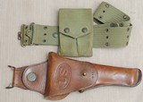 1914 pistol belt rig with eagle snaps made by Mills, Holster by Rock Island Arsenal