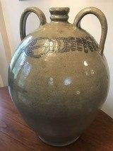Ovoid 4 Gallon Jug Large Cobalt Rattlesnake One of a Kind North Carolina Art Pottery signed - 1 of 4
